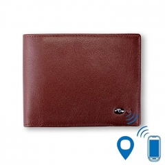 Short Wallet Anti lost Wallet Smart Wallet Wireless Bluetooth 4.0 Intelligent Two-way Search Brown One Size