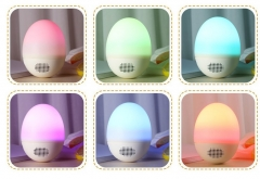 Roly-Roly Doll Type Bluetooth Speaker Chageable Colour Light ABS Soft Silcon Materials Beige same size