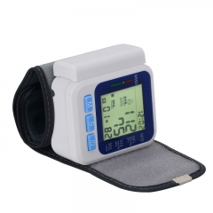 Automatic Memory Storage Wrist Type LCD Digital Blood Pressure Monitor Pulse Monitor with Voice