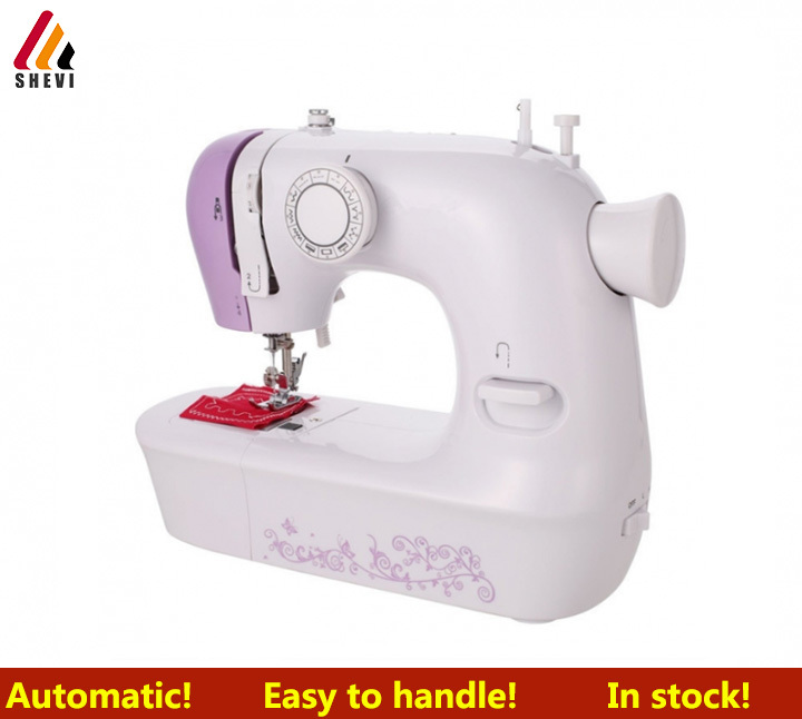 Shevi 12 Stitches Electric Overlock Sewing Machine Double Speed Household Tool purple
