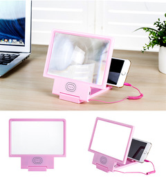 Shevi Screen Magnifier 3D Video Screen Amplifier with Speark mobile holder pink one size