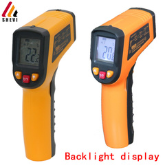 Shevi Handheld Digital LCD Temperature Thermometer Laser Non-Contact IR Infrared Gun as photo