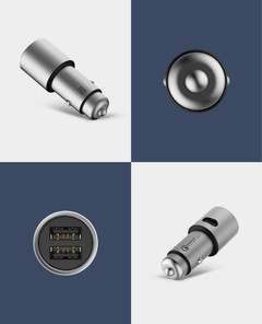 Original MI 2 for Xiaomi mi Car Charger Double USB Fast Charging Mi Car Charger for iphone ipad Silver New one size