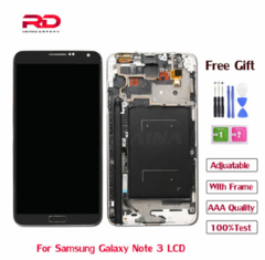 Adjustable N9005 LCD For SAMSUNG Galaxy Note 3 LCD display N900 Touch Screen Digitizer with Frame black N9005