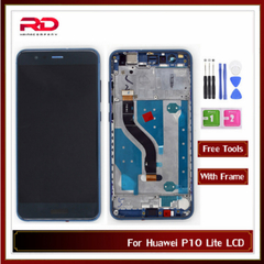 5.2 inch LCD For Huawei P10 Lite Touch Screen Digitizer LCD With Frame WAS LX2J LX2 LX1A L03T LX3 black P10 Lite with Frame