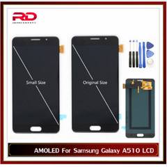 Original Size AMOLED LCD for Samsung Galaxy A5 2016 A510F A510M A510FD A5100 A510Y LCD Touch Screen black A510 Small Size