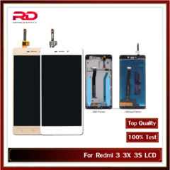 Redmi 3 For Xiaomi Redmi 3 3x 3s LCD Screen Display Touch Screen Digitizer Assembly black Redmi 3 with frame
