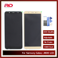 Adjustable brightness For Samsung J800 LCD Display Touch Screen For Samsung Galaxy J8 2018 display black J800 AAA