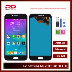 AMOLED Display For Samsung Galaxy A8 2016 A810F Display w/Touch Screen Digitizer A8100 LCD black A810 AMOLED