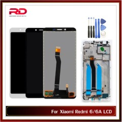 LCD For XIAOMI Redmi 6/6A Touch Screen For Redmi 6A Display Digitizer For Redmi 6 LCD Touch Screen white Redmi 6A with frame