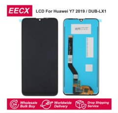 Y7 LCD For Huawei Y7 2019 LCD Display Screen Touch Screen Digitizer with Frame Assembly Replacement black Huawei Y7 2019