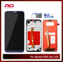 5.84 For HUAWEI P20 Lite Lcd touch screen ANE-LX1 ANE-LX3 Nova 3e LCD P20 lite black P20 Lite no Frame