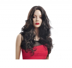 "18"" Wavy Hair Wigs (Black) IN Synthetic HAIR for women black 18inch"