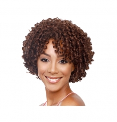 "9""  short fashion Wigs for Women synthetic  Hair wig Deep brown 9 inch"
