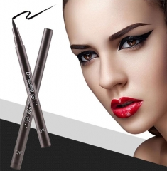 Luxury Waterproof Precision Liquid Felt Tip  Eyeliner Pen, Black black