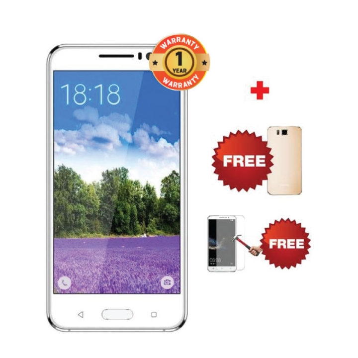 OWWO Carnival 6 - 6 Inch, 8MP + 2MP Camera, Memory: 1GB & 8GB ROM, 3000mAh battery, 2G/3G Smartphone white