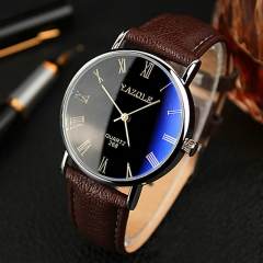 Wrist Watch Men Watches 2017 Top Brand Luxury Famous Business Wristwatch Male Clock Quartz Watch white brown one size