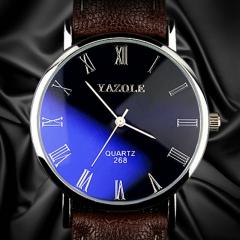 Wrist Watch Men Watches 2017 Top Brand Luxury Famous Business Wristwatch Male Clock Quartz Watch black brown one size