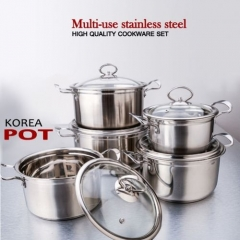 Happy Home 5pcs Stainless Steel Pots silver 26,24,22,20,18cm