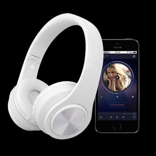 LIFE STYLE - Bluetooth Earphone - FM Radio - TF Card Slot white