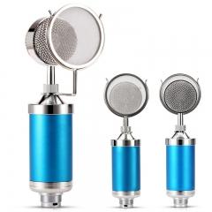 Large Diaphragm KTV Microphone Broadcast Computer Professional Microphone Microphone Recorder blue one size BM-700
