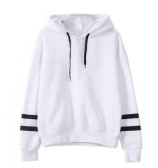 Autumn Hooeded Sweatshirt Women Embroidery Flower Long Sleeve Pullover Streetwear Fleece Hoodies white xxl