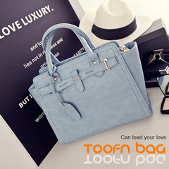 Toofn Handbag Ladies Designer Leather Style Celebrity Tote Bag  Handbag Blue
