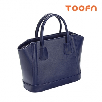 Toofn Handbag Fashion Big Handbag Shoulder Bag Three color Blue F