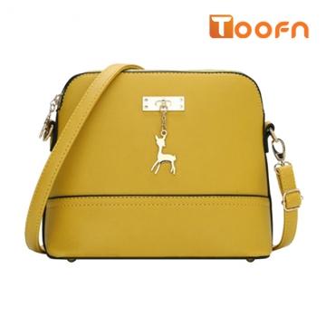 Toofn Handbag New pattern lovely deer shell bag Yellow F