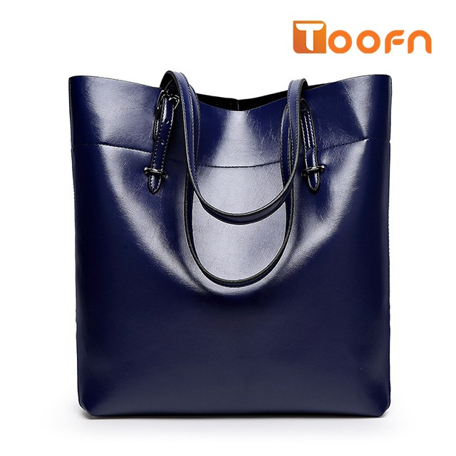 Toofn Handbag Bigsize Fashion Tote Bags,Shopping Bag Blue F