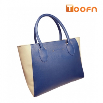 Toofn Handbag 4 colors Top quality fashion women casual tote bag Blue