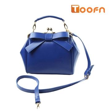 Toofn Handbag Bowknot Handbag Shoulder Crossbody Bag Blue F
