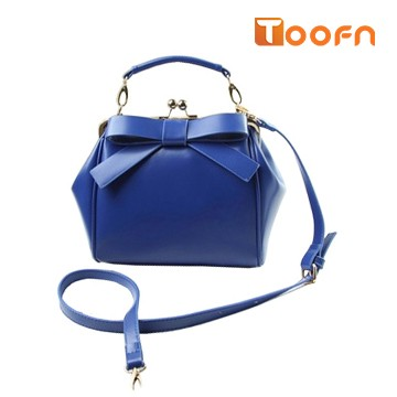 Toofn Handbag Bowknot Handbag Shoulder Crossbody Bag Blue F