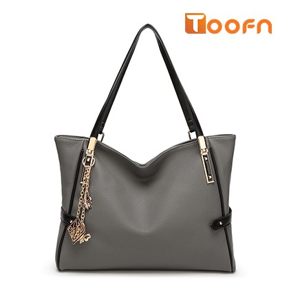 Toofn Handbag 2016 New European Fashion Lady Tassel Messenger Shoulder Handbag Gray F