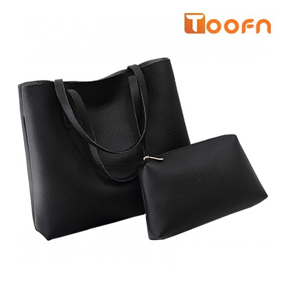 Toofn Handbag PU Leather Shoulder Bag,Women Bags Black F