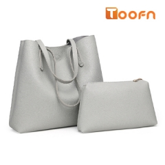 Toofn Handbag PU Leather Shoulder Bag,Women Bags Gray F