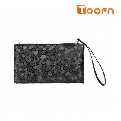 Toofn Handbag Stylish Ladies Clutch Wallets black f