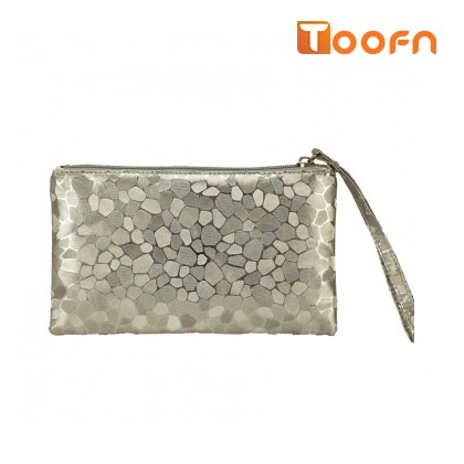 Toofn Handbag Stylish Ladies Clutch Wallets Gold f