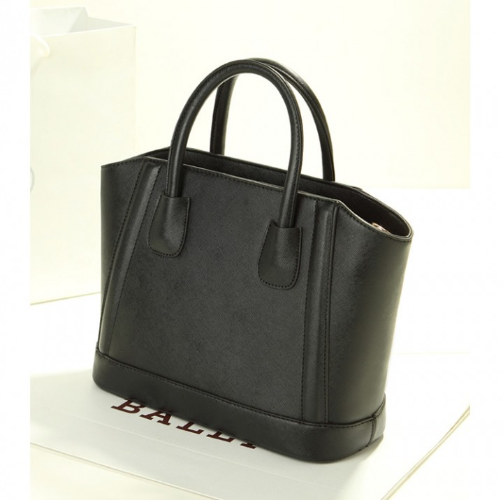 Toofn Handbag Fashion Big Handbag Shoulder Bag Three color Black F