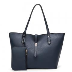 TOOFN Handbags for Women Shoulder Bags Tote 2 pcs Purse Set blue f