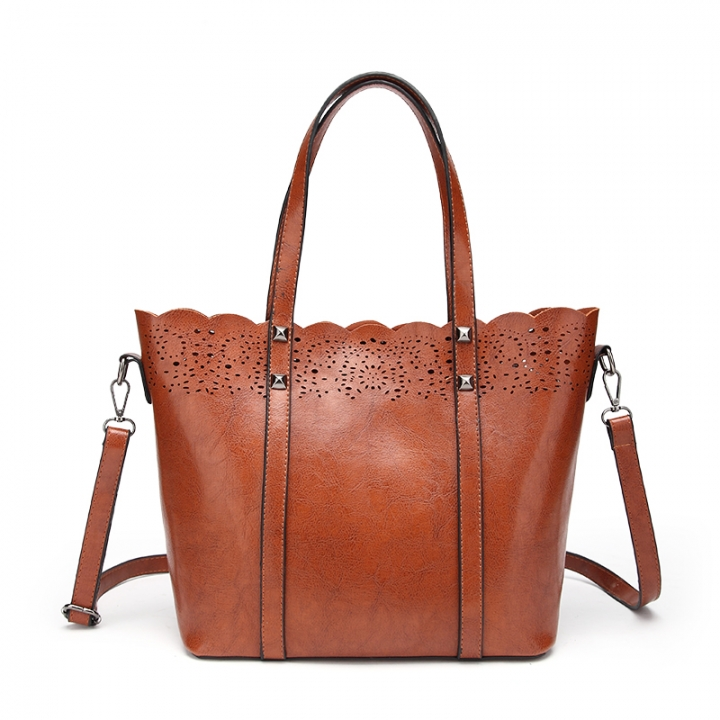 TOOFN Brand new Lace Handbags shoulder bags brown f