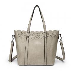 TOOFN Brand new Lace Handbags shoulder bags gray f