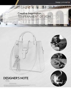 Toofn Handbag Fashion Big Handbag Shoulder Bag Three color Blue F