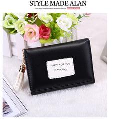 Toofn Handbag Colorful Ladies Wallet PU Leather Women Coin Purse black f