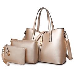TOOFN Classic style handbag shoulder bags gold f