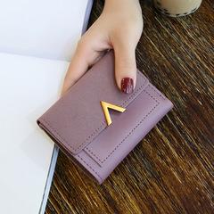 Toofn European Fashion Color Ladies Wallet Women Coin Purse Purple F