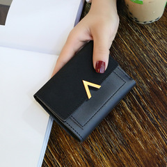 Toofn European Fashion Color Ladies Wallet Women Coin Purse Black F