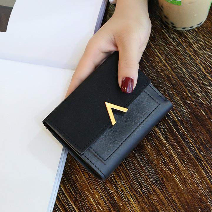 Toofn European Fashion Color Ladies Wallet Women Coin Purse Black F