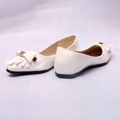 Women Ladies Fashion Platform Flat Casual Pointed Toe Tassel Shoes(SO16) black 40