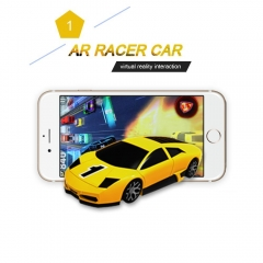 AR Race Car With Lights,Vibration,Jumping Real Virtual Reality Racing Mini Pocket Game Toy Speed Car